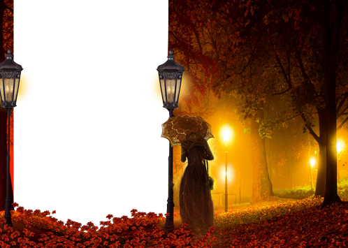 Marco De La Foto Luz Misteriosa En La Noche De Otoño - Marco De La Foto Luz Misteriosa En La Noche De Otoño