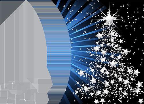 Marco Para Foto Árbol De Año Nuevo Hecho De Estrellas - Marco Para Foto Árbol De Año Nuevo Hecho De Estrellas