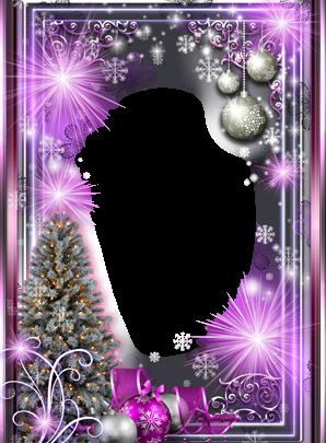 Marco Para Foto Año Nuevo Púrpura Brillo 298x405 - Marco Para Foto Año Nuevo Púrpura Brillo