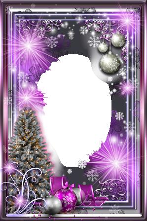 Marco Para Foto Año Nuevo Púrpura Brillo - Marco Para Foto Año Nuevo Púrpura Brillo