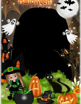 Marco Para Foto Ambiente Horrible De Halloween 316x405 - Marco Para Foto Ambiente Horrible De Halloween