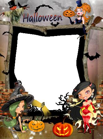 Marco Para Foto Brujas De Halloween - Marco Para Foto Brujas De Halloween