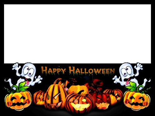 Marco Para Foto Calabaza Horrible Te Deseo Un Feliz Halloween - Marco Para Foto Calabaza Horrible Te Deseo Un Feliz Halloween