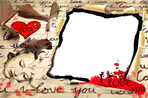 Marco Para Foto Carta De Amor - Marco Para Foto Carta De Amor