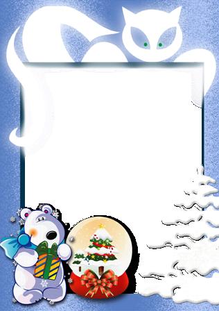 Marco Para Foto Cuento De Invierno De Año Nuevo - Marco Para Foto Cuento De Invierno De Año Nuevo