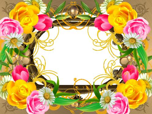 Marco Para Foto Eres Una Rosa En Medio De Flores - Marco Para Foto Eres Una Rosa En Medio De Flores