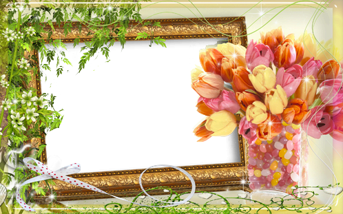 Marco Para Foto Flores De Tulipán - Marco Para Foto Flores De Tulipán