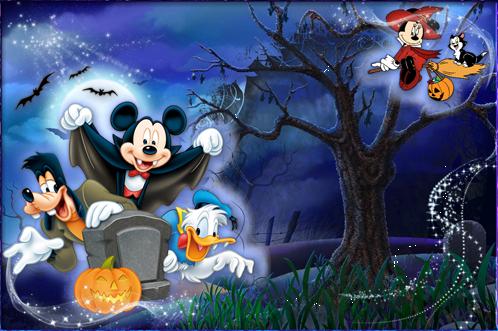 Marco Para Foto Halloween Con Mickey Y Sus Amigos - Marco Para Foto Halloween Con Mickey Y Sus Amigos