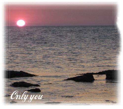 Marco Para Foto Puesta De Sol Y Corazón Sobre El Mar