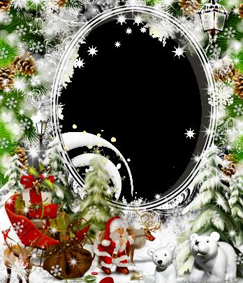 Marco Para Foto Santa Claus Lleva Regalos 348x405 - Marco Para Foto Santa Claus Lleva Regalos