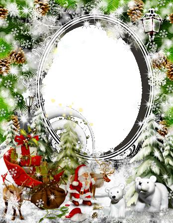 Marco Para Foto Santa Claus Lleva Regalos - Marco Para Foto Santa Claus Lleva Regalos