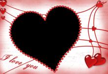 Marco para fotos corazón rojo 220x150 - Marco para fotos corazón rojo