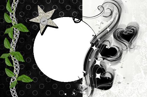 Marcos Para Foto Corazones Maravillosos Y Estrella Plateada - Marcos Para Foto Corazones Maravillosos Y Estrella Plateada