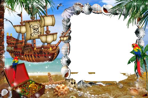 Marcos Para Foto Mar Pirata E Isla Del Tesoro - Marcos Para Foto Mar Pirata E Isla Del Tesoro