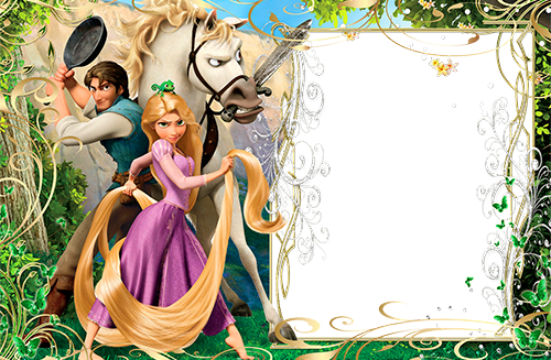 Marcos Para Foto Rapunzel Y Pelos Mágicos - Marcos Para Foto Rapunzel Y Pelos Mágicos