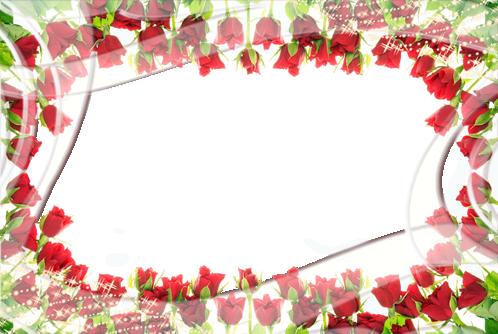 Marcos Para Foto Rodeado De Rosas Pintura - Marcos Para Foto Rodeado De Rosas Pintura