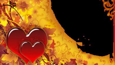 Photo of Ama y cae con grandes corazones rojos