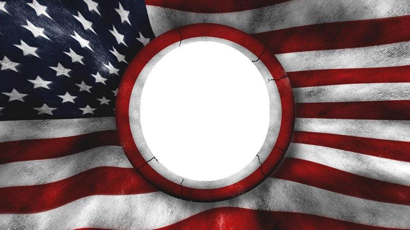 Marco De La Bandera De Los Estados Unidos De América