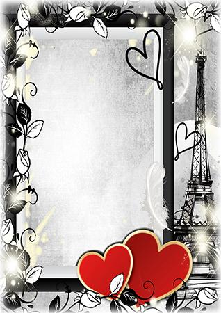 Marco Para Foto Corazones Románticos De San Valentín - Marco Para Foto Corazones Románticos De San Valentín