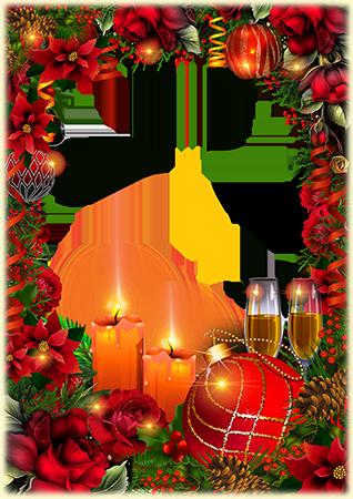Marco Para Foto Decoraciones Del Día De Año Nuevo - Marco Para Foto Decoraciones Del Día De Año Nuevo