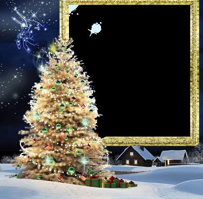 Marcos Para Fotos De Arbol De Navidad.Marco Para Foto El Arbol De Navidad Mas Bello Y Bello Y La