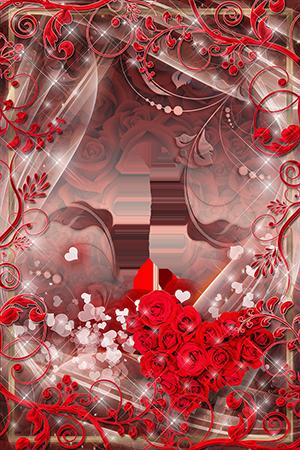 Marco Para Foto El Corazón Rojo De Rosas Es Muy Hermoso - Marco Para Foto El Corazón Rojo De Rosas Es Muy Hermoso