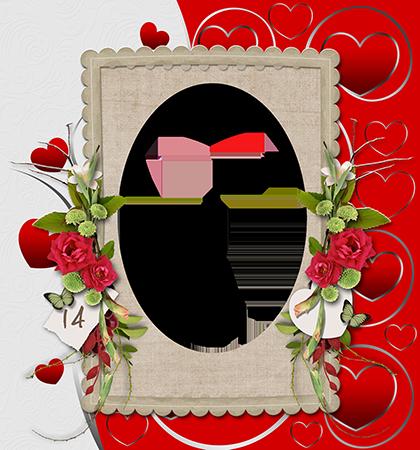 Marco Para Foto El Día De San Valentín Más Hermoso Con La Persona Que Amas - Marco Para Foto El Día De San Valentín Más Hermoso Con La Persona Que Amas