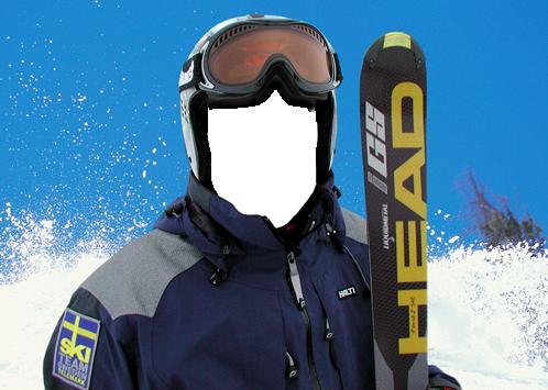 Marco Para Foto Esquiador - Marco Para Foto Esquiador