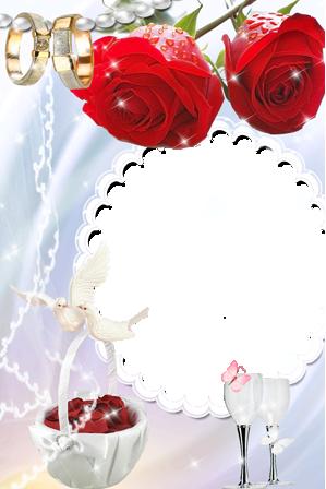 Marco Para Foto Flores Para Matrimonio Y Compromiso - Marco Para Foto Flores Para Matrimonio Y Compromiso