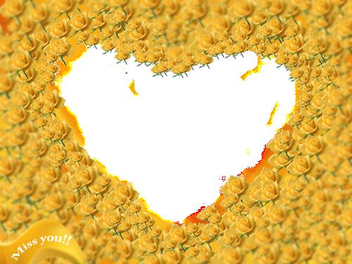 Marco Para Foto Flores Y Flores De Abedul Hermosa Forma De Corazón - Marco Para Foto Flores Y Flores De Abedul Hermosa Forma De Corazón