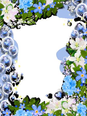 Marco Para Foto Hermosa Colección De Rosas Azules - Marco Para Foto Hermosa Colección De Rosas Azules