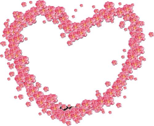 Marco Para Foto Hermosas Flores Rojas En Forma De Corazón - Marco Para Foto Hermosas Flores Rojas En Forma De Corazón