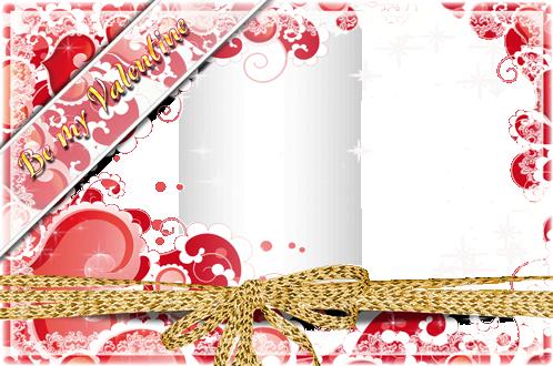Marco Para Foto Hermosos Corazones Románticos Para El Día De San Valentín - Marco Para Foto Hermosos Corazones Románticos Para El Día De San Valentín