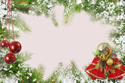 Marco Para Foto Marco De Bolas Rojas Y Decoraciones Verdes Para La Víspera De Año Nuevo - Marco Para Foto Marco De Bolas Rojas Y Decoraciones Verdes Para La Víspera De Año Nuevo