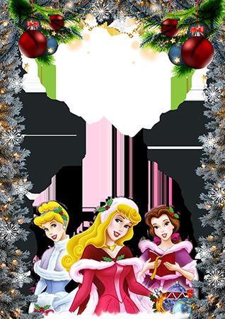 Marco Para Foto Marco De Princesas Saludos De Año Nuevo - Marco Para Foto Marco De Princesas Saludos De Año Nuevo