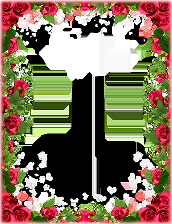 Marco Para Foto Obra Maestra De Flores Para El Día De San Valentín - Marco Para Foto Obra Maestra De Flores Para El Día De San Valentín