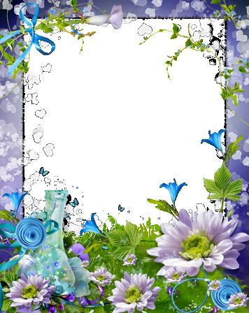 Marco Para Foto Paraíso De Rosas Azules Y Violetas - Marco Para Foto Paraíso De Rosas Azules Y Violetas
