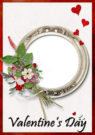 Marco Para Foto Romántica San Valentín Imagen Hermosa - Marco Para Foto Romántica San Valentín Imagen Hermosa