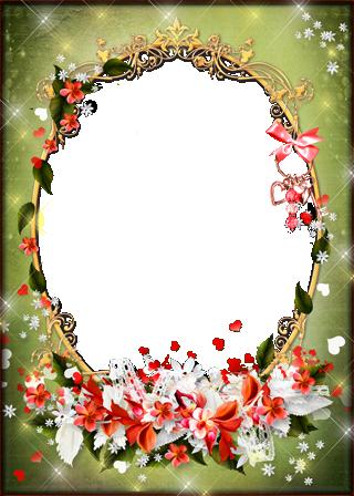 Marco Para Foto Románticas Flores Rojas Para Los Seres Queridos