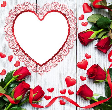 Marco Para Foto Un Corazón Rojo Delgado Y Hermoso Para El Día De San Valentín