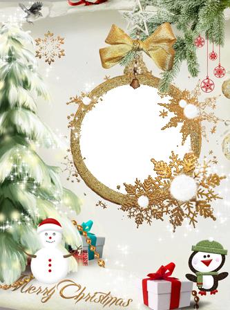 Marco Para Foto Un Hermoso Marco Dorado Para Navidad - Marco Para Foto Un Hermoso Marco Dorado Para Navidad