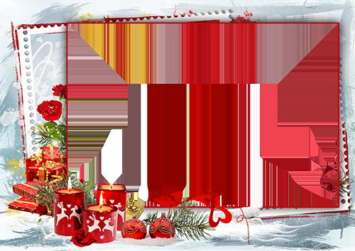 Marco Para Foto Velas Rojas Y Corazones Rojos Para Su Marco De Fotos En La Víspera De Año Nuevo - Marco Para Foto Velas Rojas Y Corazones Rojos Para Su Marco De Fotos En La Víspera De Año Nuevo