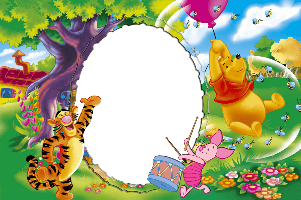 Marco Para Foto Winni Pooh  - Marco Para Foto Winni Pooh