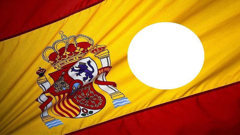 Marco con bandera de españa