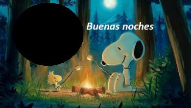 Photo of Marco de buenas noches snoopy