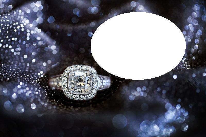Marco de anillo 5 diamantes - Marco de anillo 5 diamantes