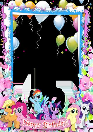 Marco Para Foto El marco de cumpleaños más bonito para niños.