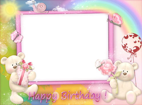Marco Para Foto El regalo más feliz del feliz cumpleaños del oso - Marco Para Foto El regalo más feliz del feliz cumpleaños del oso