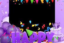 Marco Para Foto Feliz cumpleaños con pastel 220x150 - Marco Para Foto Feliz cumpleaños con pastel