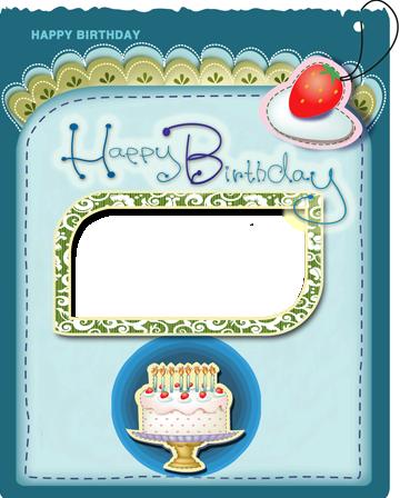 Marco Para Foto La tarjeta y el marco de cumpleaños más bonitos con una tarta